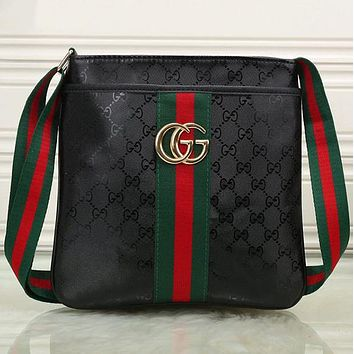 Boys & Men Gucci Men Shopping Leather Tote Crossbody Satchel Shoulder Bag