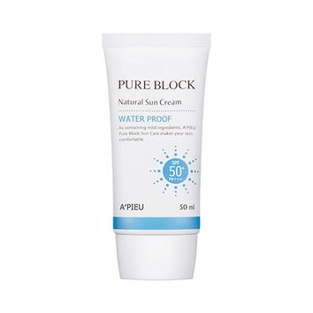 A'PIEU Pure Block Natural Waterproof Sun Cream SPF50+ PA+++