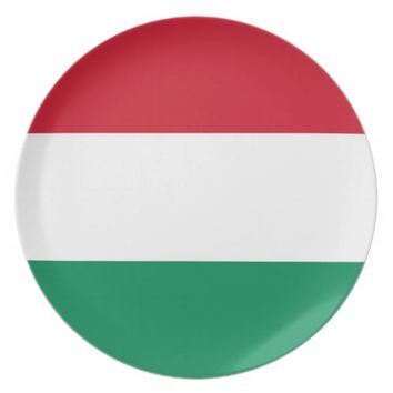 Hungarian Flag Plate