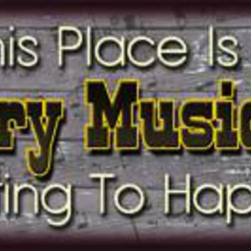 Country Music Song Tin Sign