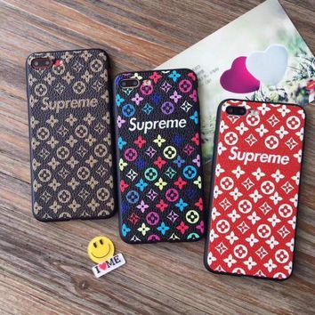 Supreme lv matte Case Cover