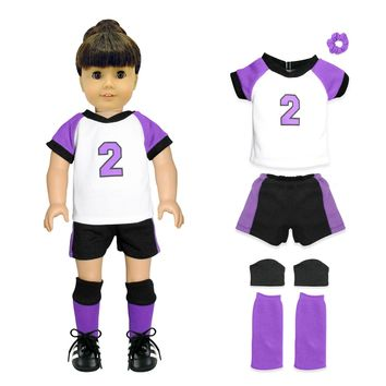 "Doll Clothes Fits American Girl 18"" Inch Soccer Player Outfit Dress"