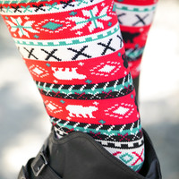 Strawberry Log Cabin Leggings