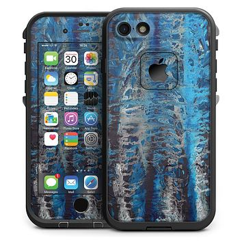 Abstract Wet Paint Blues v8 - iPhone 7 LifeProof Fre Case Skin Kit