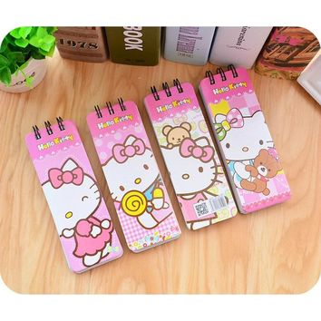 Kawaii Hello Kitty Notebook School Supply Vocabulary Writing Reciting Book Kids Gift Plan Writing Paper Organizer Portable