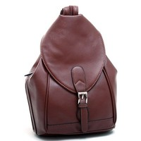 Convertible Backpack/Shoulder Bag w/Zippered Strap