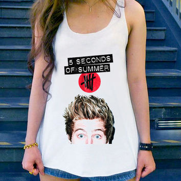 5sos collage art,5sos,5 second of summer ,5 sos Luke Hemmings tanktop Girl, Funny Shirt size S,M,L,XL,XXL