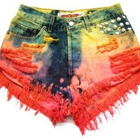Lucky Charm high waisted shorts