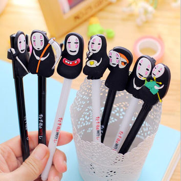 1PCS New Arrival Japan Hayao Miyazaki Cartoon Gel Ink Pen Promotional Gift Stationery Novelty Needle Fountain Pen