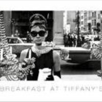 Audrey Hepburn Movie (Breakfast at Tiffany's, 3 Shots) Poster Print - 12x36 Poster Print, 36x12 People Poster Print, 36x12