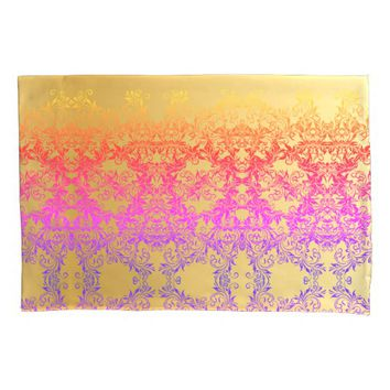 Decorative Baroque Damask Gradients Ornaments Pillow Case