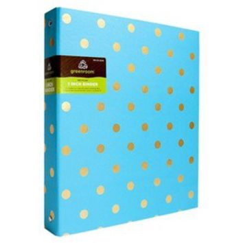 "Greenroom 1"" Metallic Dot Binder - Assorted Colors"