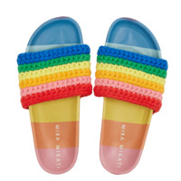 Rainbow Knitted Sliders