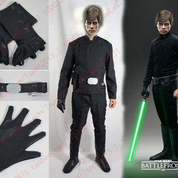 Star Wars Luke Skywalker Cosplay Costume with shoe covers and one glove