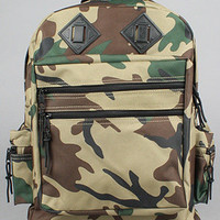 The Deluxe Day Backpack in Woodland Camo