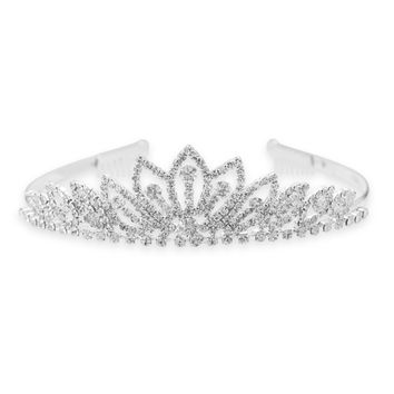 Bridal Crystal Sunburst Style Fashion Tiara