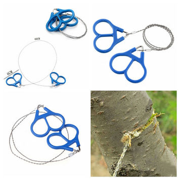 Outdoor Camping Hunting Survival Necessary Tool High Strength Steel Wire Fretsaw Hiking Adventure Scroll String Saws