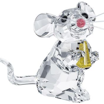 Swarovski Crystal Figurine MOUSE WITH CHEESE - 5004691