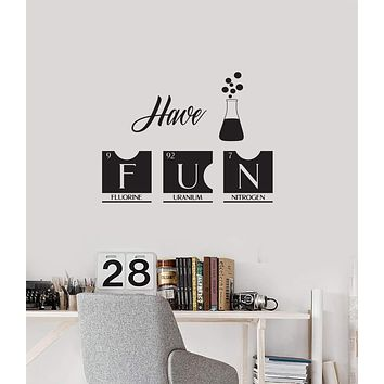 Vinyl Wall Decal Laboratory Chemical Chemistry Classroom Interior Art Stickers Mural (ig5781)