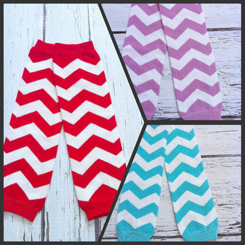 Red and White, Lavender, teal, aqua Chevron leg warmers for baby girl, toddler girl, birthday, photo prop, easter, dance leg