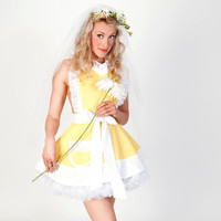 Lemon Chiffon Tiffany Style Womens Apron by dotsdiner on Etsy