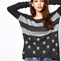 Only Star And Stripe Jumper at asos.com