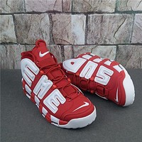 Supreme X Nike Air More Uptempo Red/white Sneaker | Best Deal Online