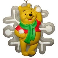 eBlueJay: Disney Winnie The Pooh Christmas Ornament Light Up Pooh Bear With Snowflake NIP