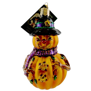 Old World Christmas Mr. Jack O' Lantern Halloween Glass Ornament