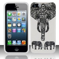 Charming Elephant Case for Apple iPhone 5/5S Exclusively by TRENDE + Free Gift Box (Compatible Models: iPhone 5 & 5S)