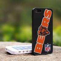 Chicago Bears Logo NFL Team - For iPhone 5 Black Case Cover