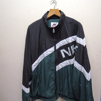 25% SALES ALERT Vintage 90's Nike Sweater Fully Zipper Bomber Jacket Sweatshirt Size XL