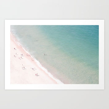 beach - summer of love Art Print by Ingrid Beddoes