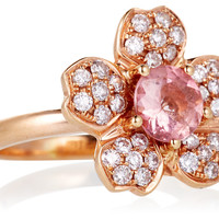 18K Rose-Gold Sakura Ring, Stone & Novelty Rings