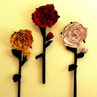 Rose Large Flowers Wall Hanging Pdf.. on Luulla