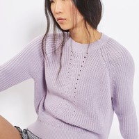 Chevron Rib Boxy Jumper - Sweaters & Knits - Clothing