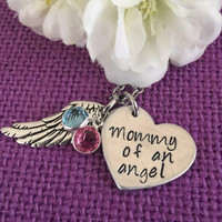 Mommy of an angel - Miscarriage Necklace - Miscarriage Jewelry - memorial jewelry child loss Gift - Angel Baby - Infant Loss