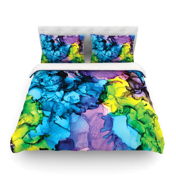 """Claire Day """"Mermaids"""" Blue Paint Featherweight Duvet Cover"""