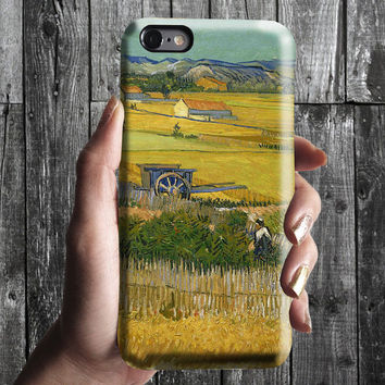 Harvest Landscape Blue Cart - Van Gogh iPhone Case 6, 6S, 6 Plus, 4S, 5S. Phone Cell. Art Painting. Gift Idea. Anniversary. Gift for him/her