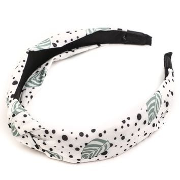 Dotted Leaves Headband