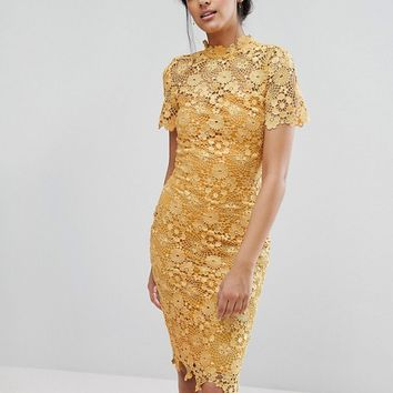 Paper Dolls Tall Allover Premium Lace Pencil Dress at asos.com