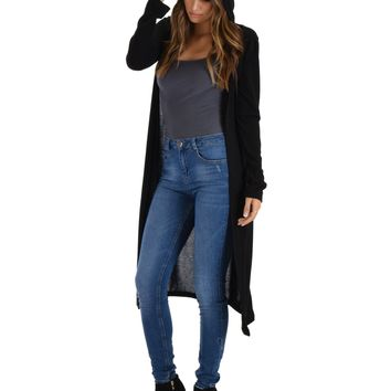Hooded long Cardigan duster more colors and sizes