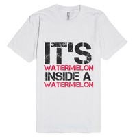 Watermelon-Unisex White T-Shirt