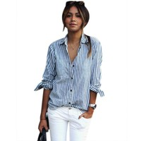 Style201 Women Office Wear Full Sleeve Casual Stand Collar Shirt 0899-67