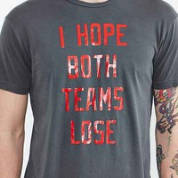 FUN Artists I Hope Both Teams Lose Tee- Washed Black