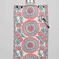 Tote+Able Paisley Print Canvas Flask- Black One