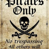 Pirates Only All Others Walk the Plank Metal Parking Sign