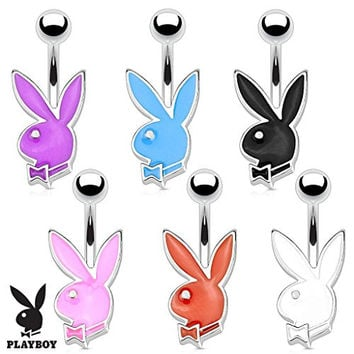 Playboy Bunny 316l Surgical Steel 16g Petite Navel Ring, Pink, Each Sold Individually