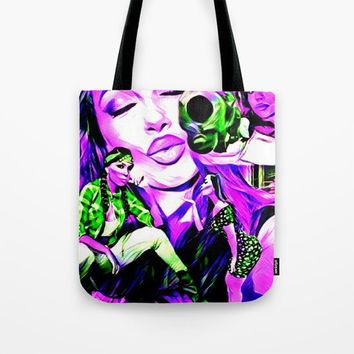 Uldouz Wallace ( Actor/Comedian ) Tote Bag by Lilbudscorner