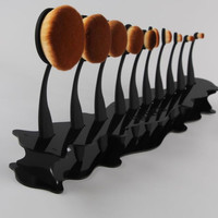 Acrylic Makeup Cosmetic Organizer Display Stand For 10pcs Toothbrush Foundation Brush